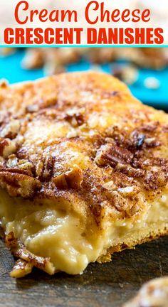 Cream Cheese Breakfast, Cream Cheese Danish, Soften Cream Cheese, Sweet Breakfast, Easy Desserts, Dessert Recipes, Breakfast Recipes, Breakfast Ideas, Pillsbury Crescent Roll Recipes