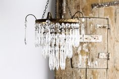 Vintage French Wedding Cake Chandelier  Vintage by CrolAndCo