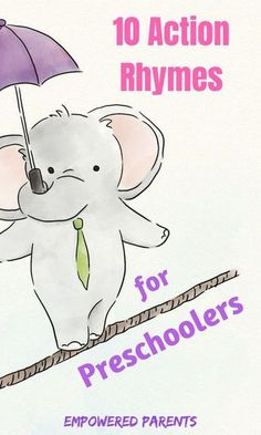 Action rhymes are great for developing your child's gross-motor skills as well as their listening and speaking skills. Your child will love these 10 popular action rhymes. - Kids education and learning acts Gross Motor Activities, Preschool Learning Activities, Gross Motor Skills, Preschool Activities, Teaching Kids, Kids Learning, Therapy Activities, Preschool Lessons, Play Therapy