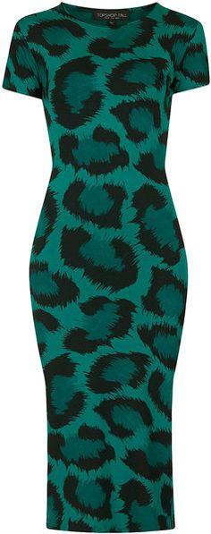 Topshop Leopard Bodycon Dress - Lyst