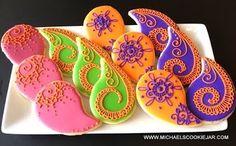 henna paisley cookies by michael's cookie jar; www.michaelscookiejar.com