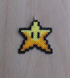 Super Mario Star Christmas Tree Decorations. by PixelBeadPictures