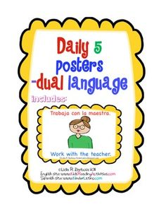 These posters are in Dual Language-They come in 2 sizes: approx. 7