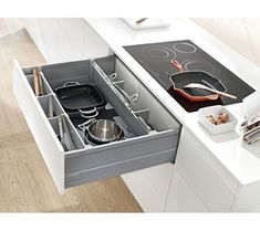 Blum Antaro Cross & Lateral Dividers Grey 1077mm Cut To Size