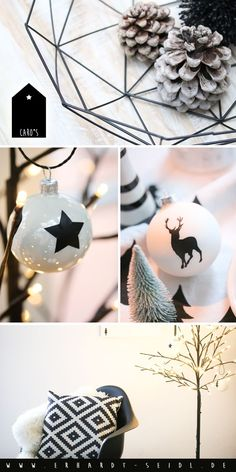 This year, I would not like the tree in gray / black / copper, but it … - DIY CHRİSTMAS Scandi Christmas, Christmas Bulbs, Christmas Decorations, Holiday Decor, Winter Diy, Diy Fashion, Black And White, Home Decor, Crafts