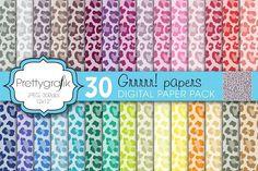 leopard animal print digital paper. Patterns. $3.00
