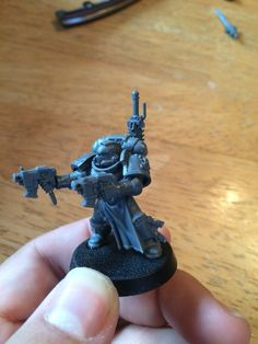 Deathwatch dark angel armed with dual master crafted bolt pistols