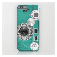 Teal Retro Vintage Phone iPhone 6s Case ($35) ❤ liked on Polyvore featuring accessories, tech accessories and iphone & ipod cases