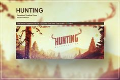 Hunting - Facebook Timeline Cover by VectorMedia on @creativemarket