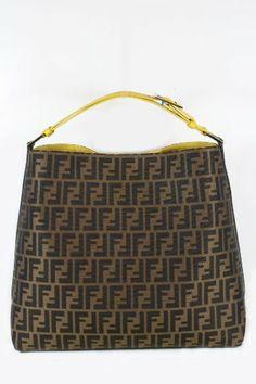 b907f8add396 Fendi Handbags Zucca   Calf Leather 8BR653