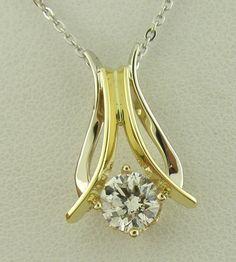 Two Tone Diamond Pendant by Nick King