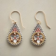 Miguel Ases Brick Stitch beaded earrings from the Sundance Catalog: PROSECCO EARRINGS