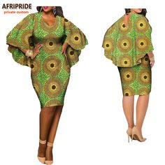 Latest African clothes casual dress for women, O-neck and V-back cloak sleeves knee-length dress African American Fashion, African Fashion Ankara, African Inspired Fashion, Latest African Fashion Dresses, African Print Fashion, Africa Fashion, African Attire, African Wear, African Women