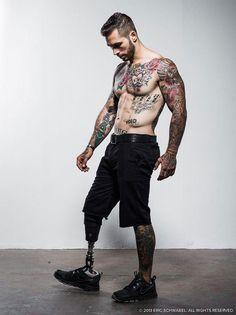 Alex Minsky, Marine Who Lost a Leg and Gained a Modeling Career - http://designyoutrust.com/2014/08/alex-minsky-marine-who-lost-a-leg-and-gained-a-modeling-career/