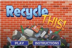 This game helps kids learn what can be recycled. #EarthDay