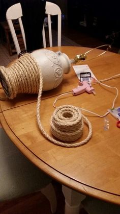 Diy Nautical lamp (rope)