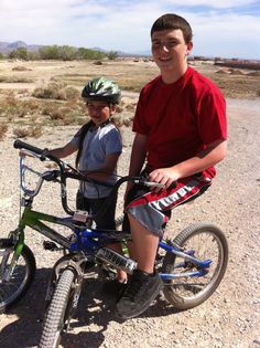 My grandson, Samuel and granddaughter, Hailey on one of our biking adventures.