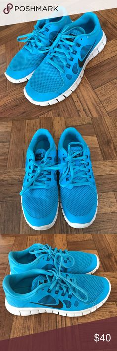 Blue Nike Free Nike Free 5.0 - Size 6 in youth, super comfortable! Worn but still in great condition! Nike Shoes Sneakers