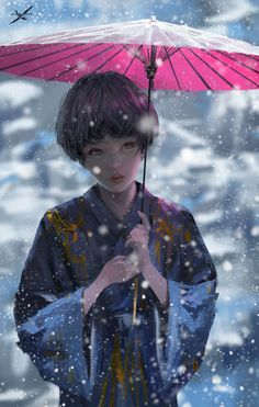 wlopwangling:  Snow by wlop She is also an original character in my comic Ghostblade, she is the sword guard of Nan the heaven sword. Seems she is the first short hair girl in Ghostblade? ('w') I'll provide full normal speed video process on my patreon:www.patreon.com/wlopYou can also support me on creating my own comic Ghostblade on my patreon: www.patreon.com/wlopAs rewards, you will get: > full size image > PSD file with steps in different layer, and brush set > HD, normal speed...