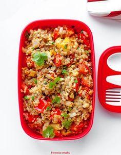 Zestaw lunchowy z kaszą gryczaną i warzywami