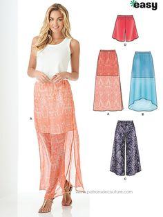 New Look 6350 New Look 6350 Jupe et pantalon, facile, tailles 34 à 46