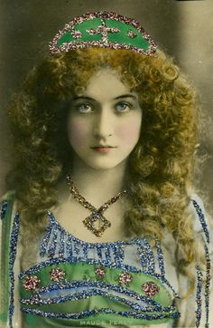 Maude Fealy (March 4, 1883 – November 9, 1971) was an American stage and film actress who appeared in nearly every film made by Cecil B. DeMille in the post silent film era.  Also appeared in Gillette Play, Sherlock Holmes. I love this photo.
