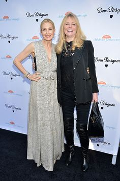 Kelly Rutherford and Cheryl Tiegs attend the Children's Justice Campaign event on May 12 2015 in Beverly Hills California