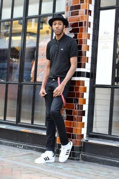 street style london added by TheNyanziReport (C) David Nyanzi La Touche wears: Hat- Vintage Polo shirt- Lacoste Jeans- Lee Jeans Trainers- Adidas Originals Braces- Dr Martens