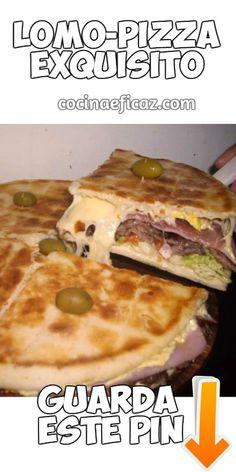 El LomoPizza es un lomito o sandwich de carne de lomo que en lugar de pan de viena o pan para sandwich utiliza clasica prepizza. Mira como hacer lomo pizza.