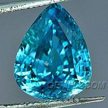large blue zircon
