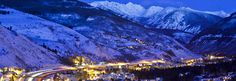 Vail Colorado.  Not far from Breckenridge.. nice little town.  Also a fun place to go in the summer, as well as the winter.