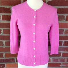 """Women's GAP Pink Wool Button Down Cardigan A pink wool button down cardigan by the gap. Super cute. Barely worn. Listed a size medium. Actual bust measures 34"""". Length is 21"""". GAP Sweaters Cardigans"""