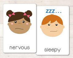 Emotions Flash Cards Busy Little Bugs blog