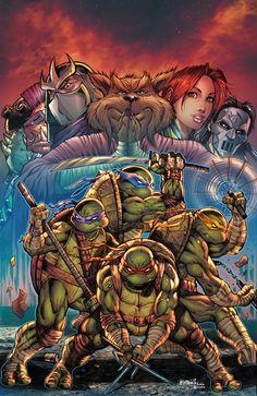 Art by Colors by Ivan Nunez Ninja Turtles Art, Teenage Mutant Ninja Turtles, Comic Books Art, Comic Art, Arte Dc Comics, Tmnt Comics, Renaissance Artists, Comic Kunst, Classic Cartoons