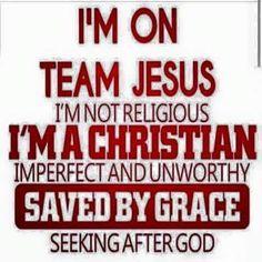 I'm on Team Jesus!
