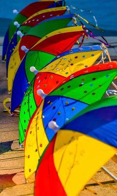 Colorful Brazilian Carnival -Umbrellas and Frevo - by Antonio Ferreira Silva