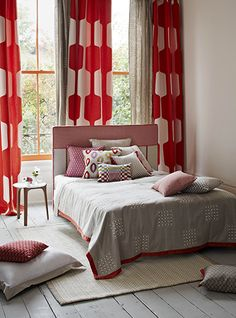 Pierre Frey | French Furnishing fabrics, Interior fabrics, Wallpapers, Sofas, Rugs, Carpets and Home accessories (note: yellow window trim + white walls)