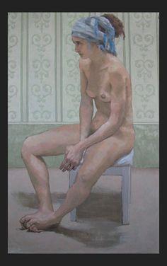 "Elena Arcangeli ""Nudo"" Oil on canvas"