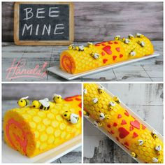 DIY Bee Mine Valentine's Cake Roll Tutorial and Recipe from...