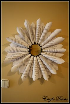 Wall decoration,with paper and mirror.
