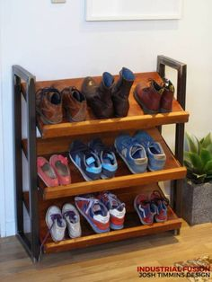 Industrial Fusion shoe rack