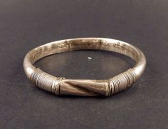 Old Hill Tribe silver bracelet from the golden triangle, Hill Tribes ethnic silver, vintage Wa Lawa jewelry from the 1950s by ethnicadornment