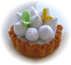 Pretend Play Kitchen - Lemon Merengue Tart, in Felt by Hiromi Hughes, via Flickr