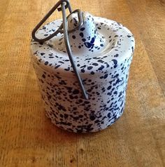 Vintage Blue Splatter Butter or Cheese by ContemporaryVintage, $10.00
