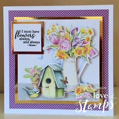 Made by Naomi Hanlon using Garden Treasures stamps and papers from Hunkydory Crafts Hunkydory Crafts, Hunky Dory, Heartfelt Creations, Cardmaking, Card Ideas, Birthday Cards, Stamps, Projects To Try, Kit