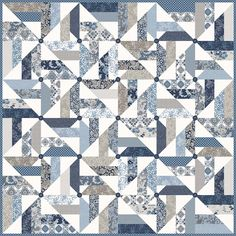 Windmills Quilt Pattern by Planted Seed Designs