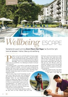 Switzerland's award-winning Grand Resort Bad Ragaz has found the right balance between medical, beauty and wellbeing.