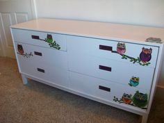 """""""Owl Chat"""" Dresser by Feather Thy Nest on Etsy.com"""