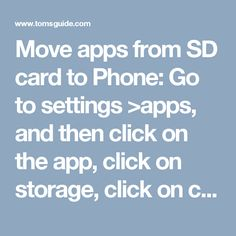 Move apps from SD card to Phone:  Go to settings >apps, and then click on the app, click on storage, click on change, and change it back.  You have to do this with each app.