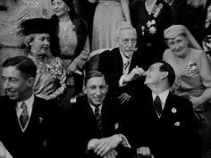 Kaiser Wilhelm II pinching his grandson Louis Ferdinand´s nose . Beside her, his second spouse, Princess Herminie zu Reuss (left) and her sister in law, Princess Heinrich von Preussen nee Princess Irene of Hesse.